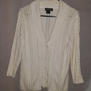 Womens Eddie Bauer Chunky Knit Cardigan Sweater L